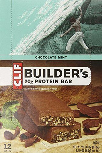 Clif Builders Protein Bar Chocolate Mint 24 Oz 24 Count You Can Find More Details By Visiting The Image Link Thi Clif Bars Mint Chocolate Protein Bars