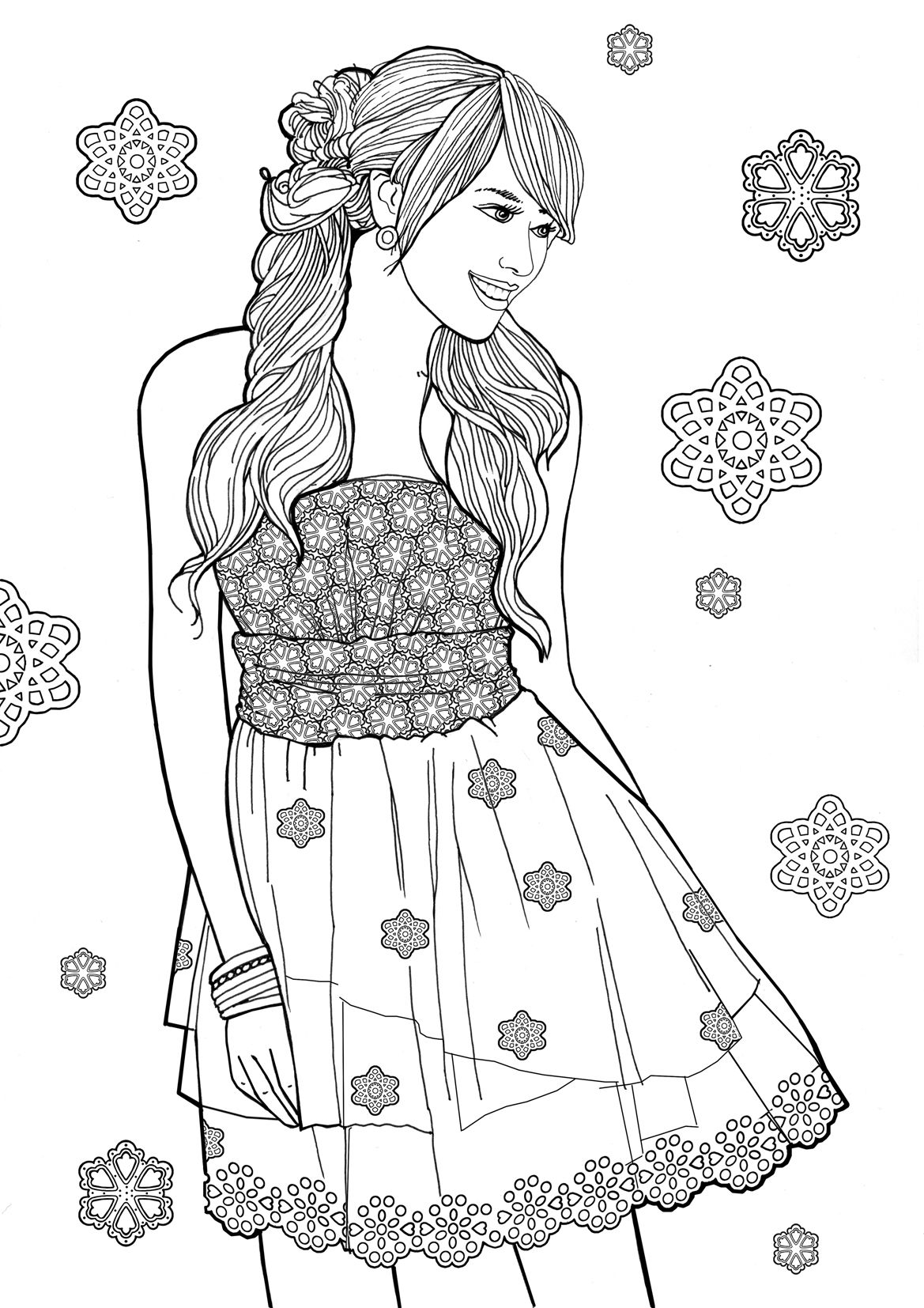 Pin By The Fridays Art On Fashion Colouring With Images