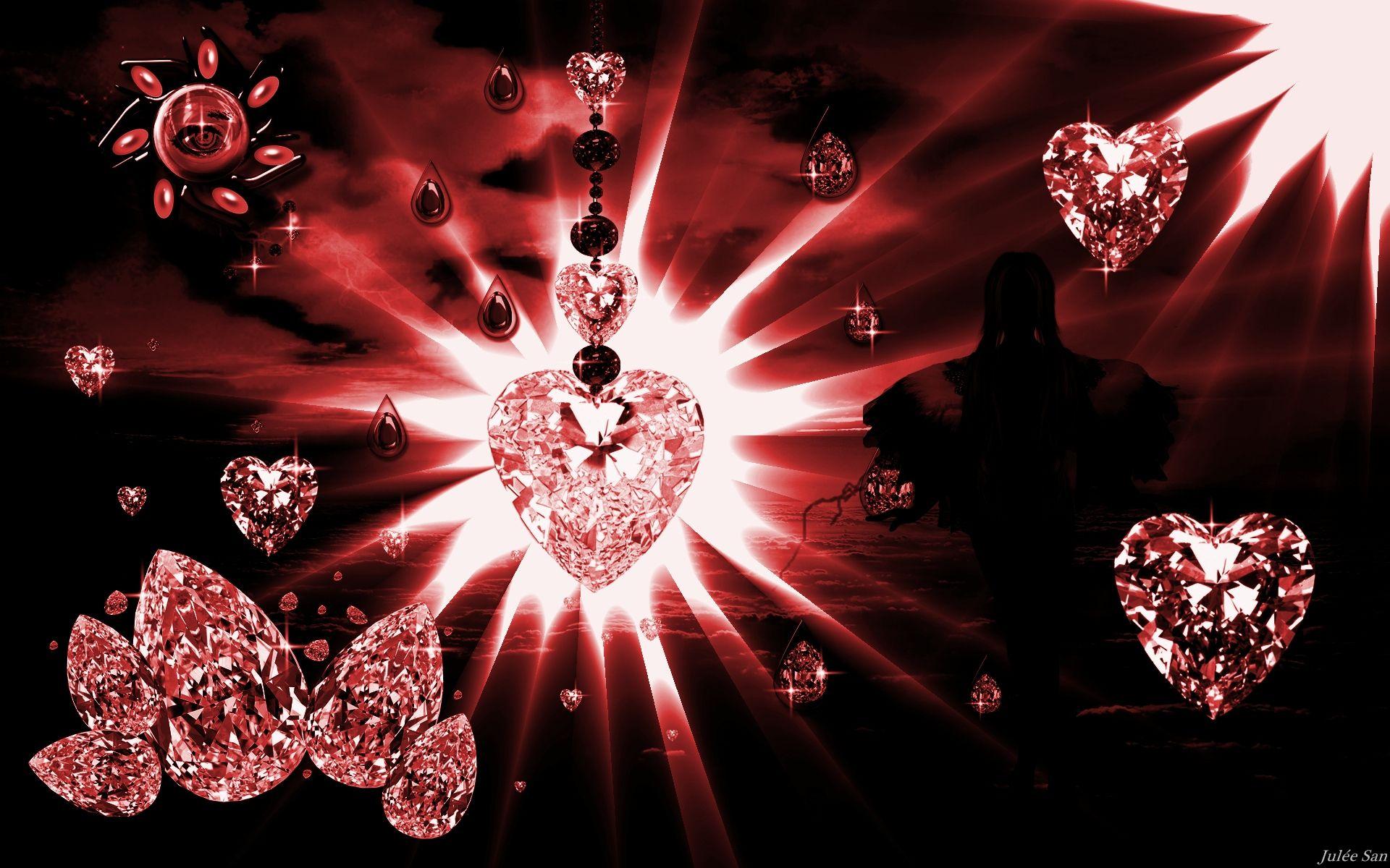 Red Diamonds Wallpaper Diamond Red Lady Art Juleesan 629084 Diamond Wallpaper Pink Diamond Wallpaper Black Diamond Wallpaper