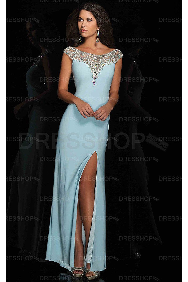 Exquisite cheap floorlength scoop cap sleeves polyester prom