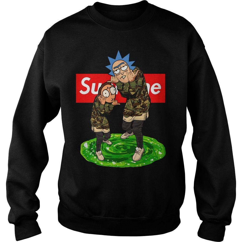 Rick and Morty Supreme sweat shirt | Supreme vetement
