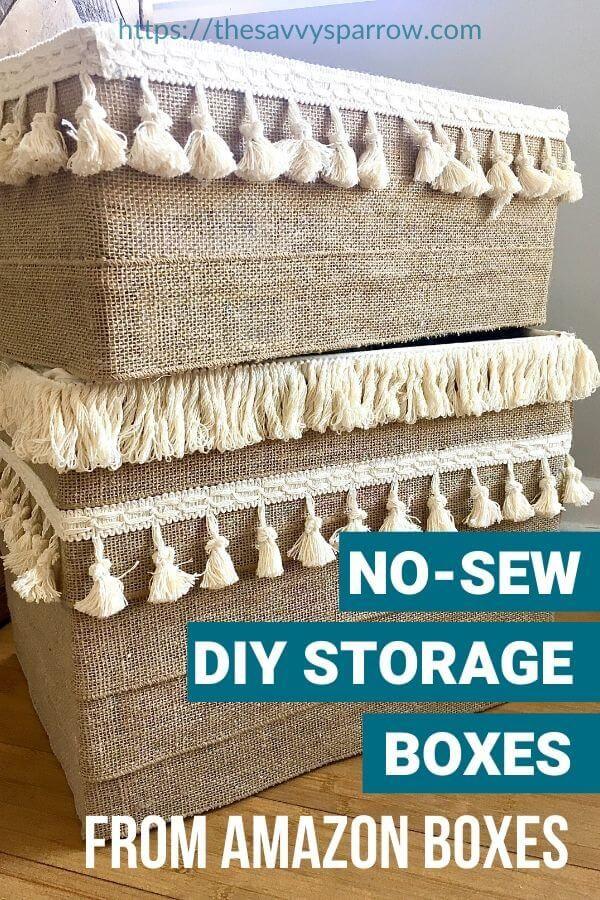 DIY Storage Boxes from Cardboard Boxes -   19 diy Box art ideas