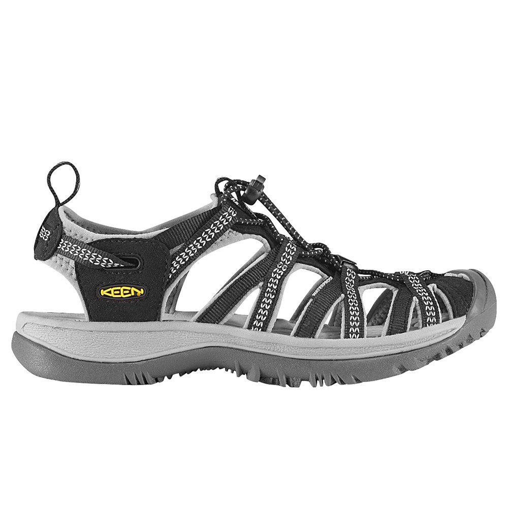 Keen Women's Whisper Black/Neutral Gray Sandal 7 B