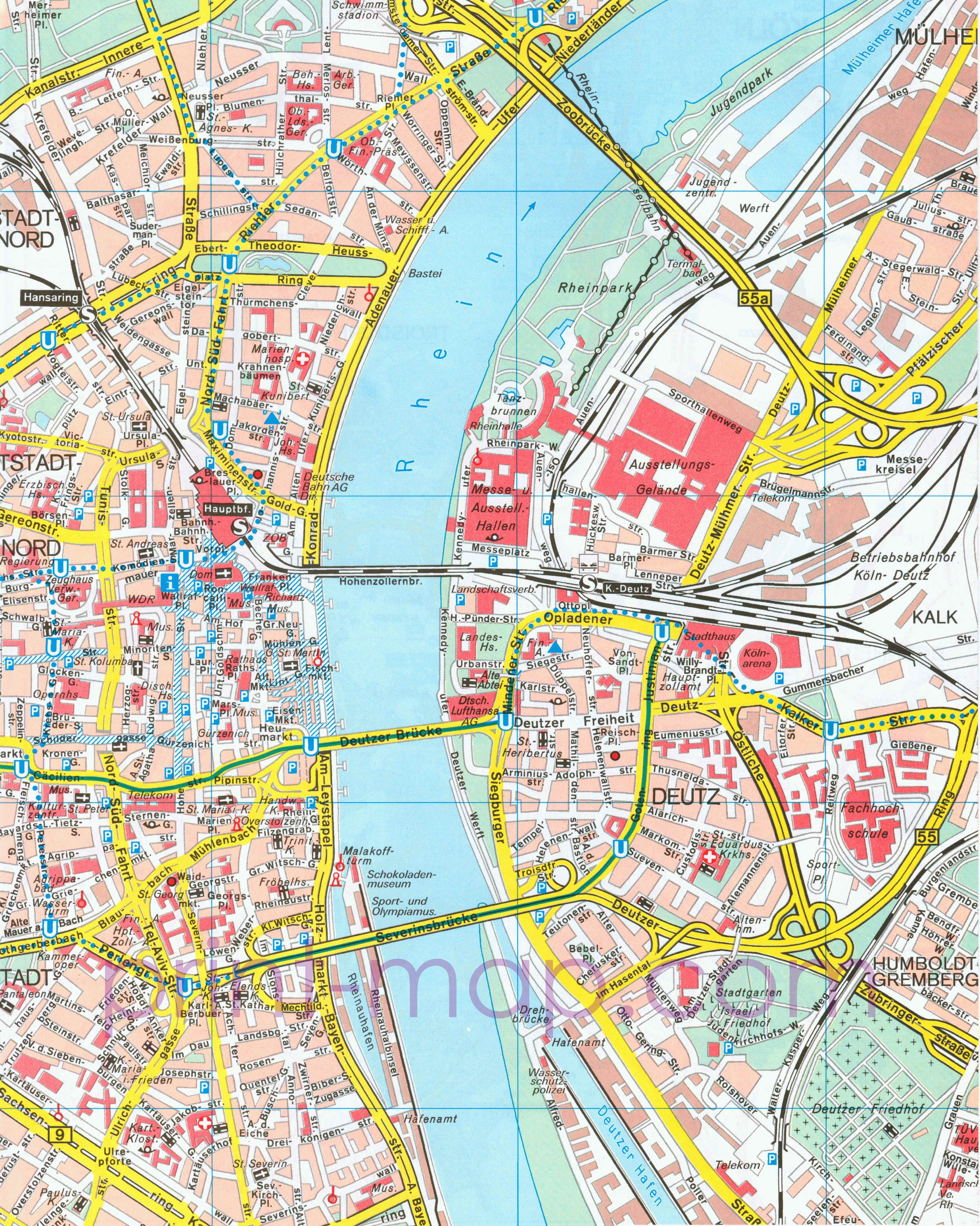 PDF Map of Cologne Germany Maps Maps maps Any and All