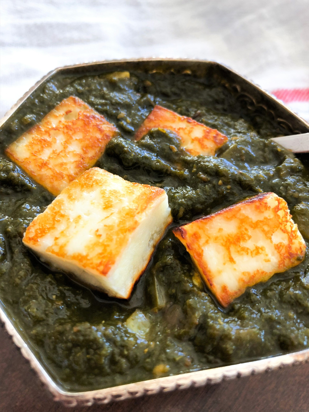 Punjabi Palak Paneer - Spinach curry with Paneer - The ...