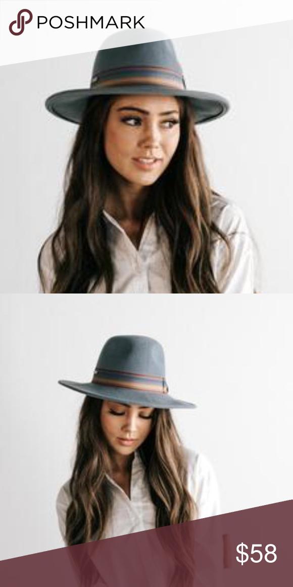 Gigi Pip Lydia Pinstripe felt fedora hat Great condition. Only worn a few  times. 8438517a8639