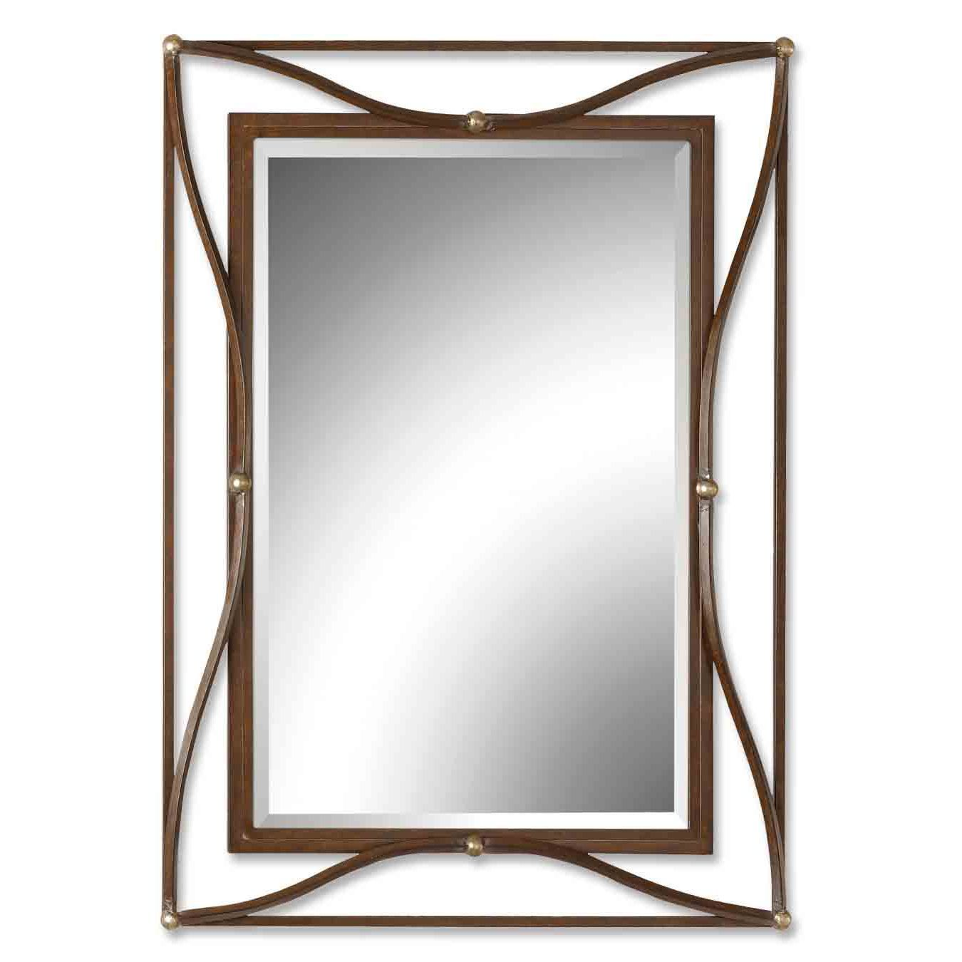 $217.80 Thierry Double Scratched Bronze Framed Beveled Mirror ...