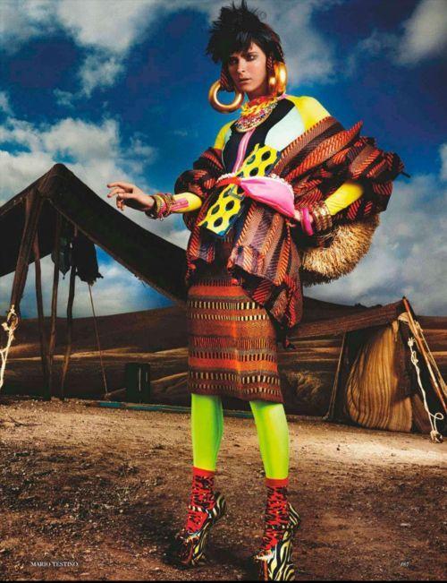 Mario Testino, Carmen Kass, UK Vogue