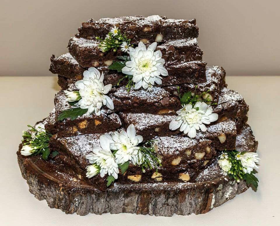 Wedding Brownie Stack Wedding cakes, Wedding cake