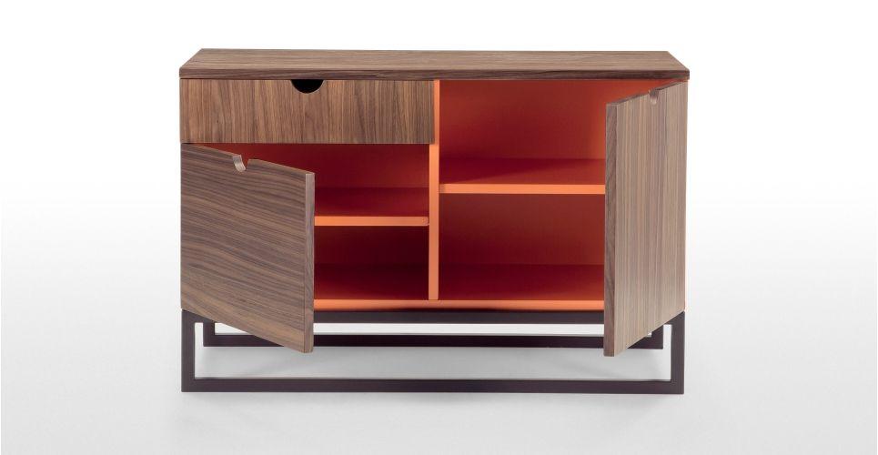 Contrast Sideboard in Walnuss und Orange | made.com
