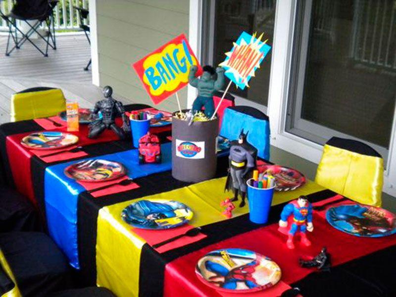 Mesa para os convidados mirim