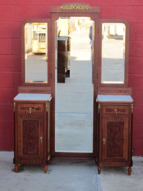 Antique Vanity Dresser With Mirror French Dressing Furniture