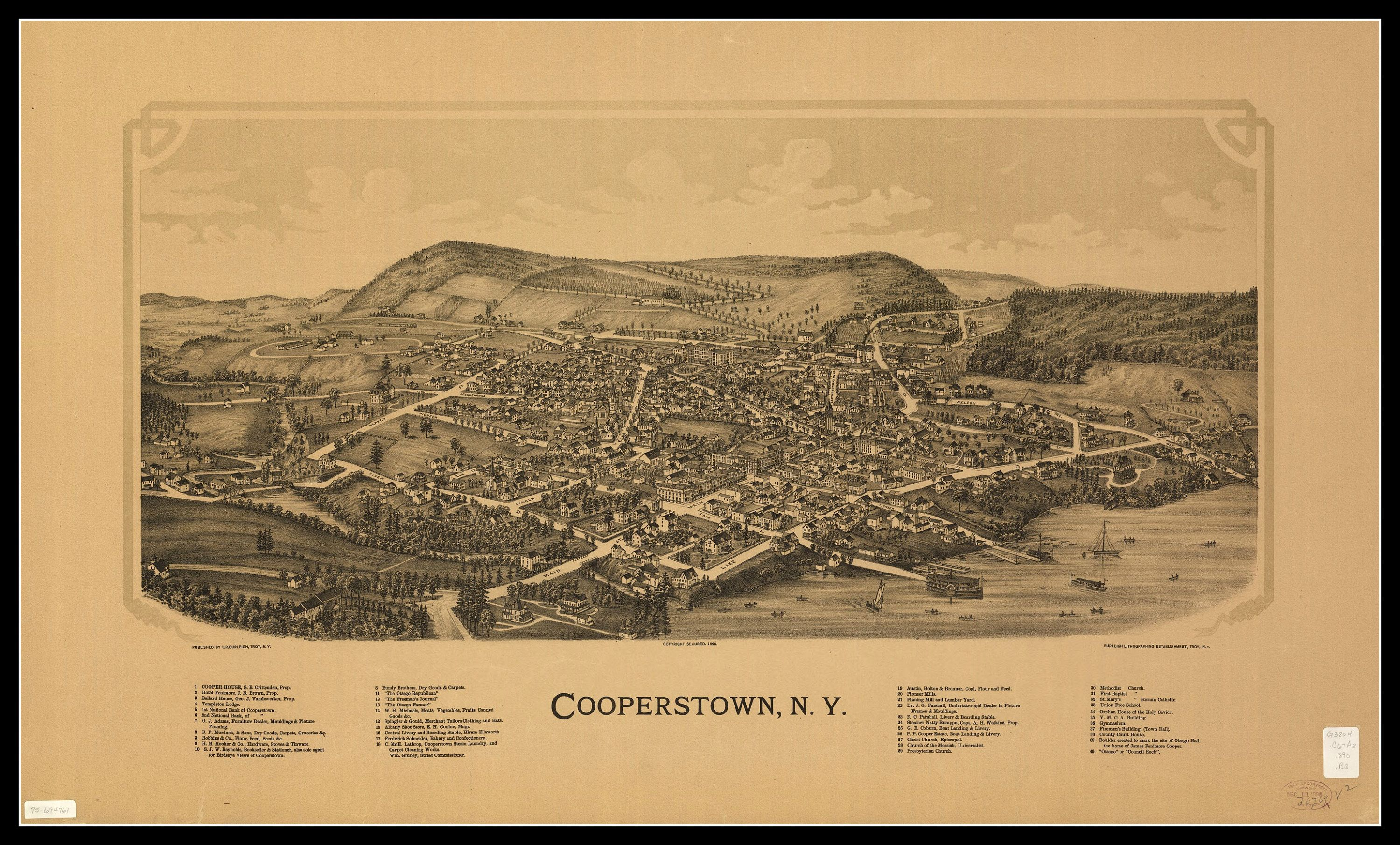 Cooperstown Ny Panoramic Map Vintage Map Vintage Map Art Vintage Map Decor Old Maps Vintage Map Prints Wall H Vintage Map Panoramic Map Vintage Maps Art