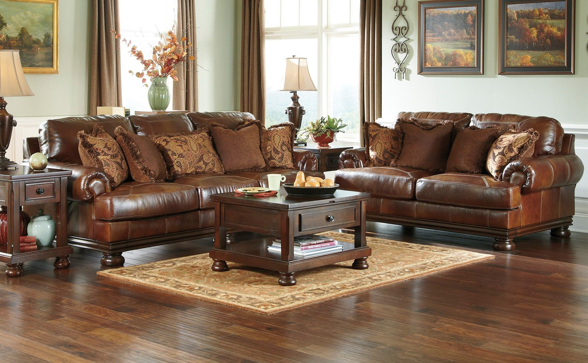 ashley furniture leather - Google Search | Living room ...