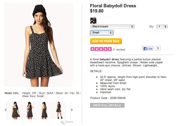 Forever 21   Floral Babydoll Dress