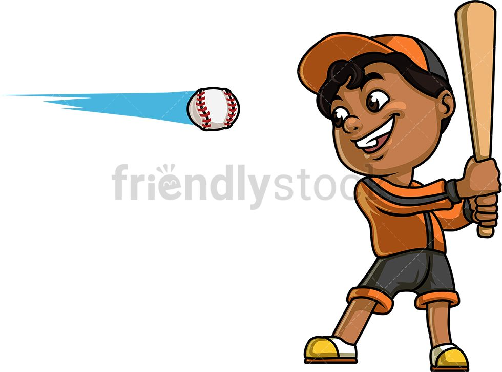 Little Boy Playing Baseball Cartoon Clipart Vector Friendlystock Boys Playing Kids Clipart Cartoon Clip Art