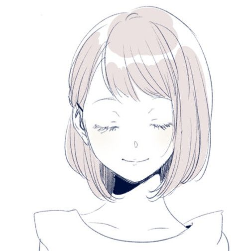35+ Latest Simple Anime Girl Short Hair Drawing