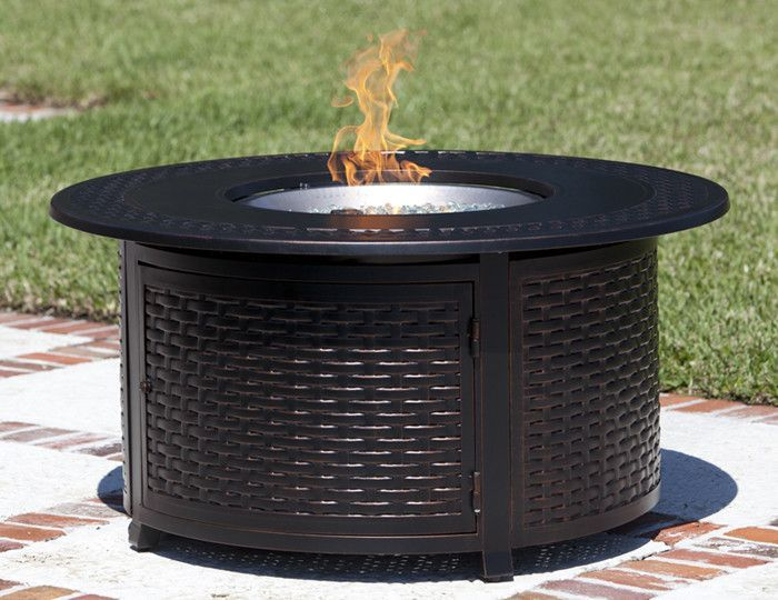 Round Propane Fire Pit Patio Table (#62195) | Fire Pit Patio, Fire Pits And  Products
