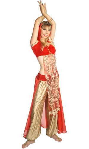 costume belly Deluxe ruby dancer