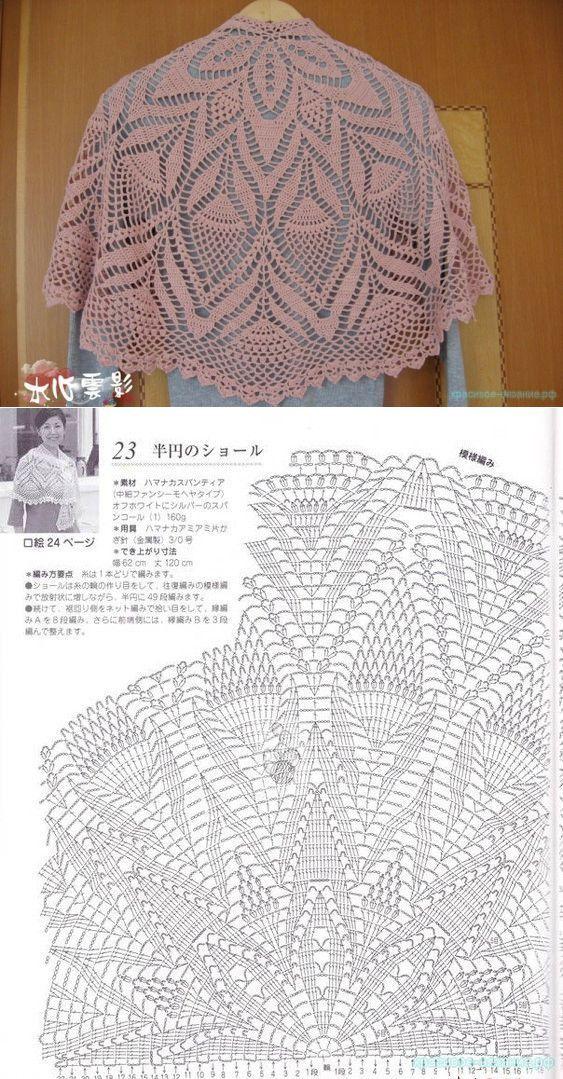 Шаль | Horgolás - crochet | Pinterest | Ganchillo, Croché y Chal
