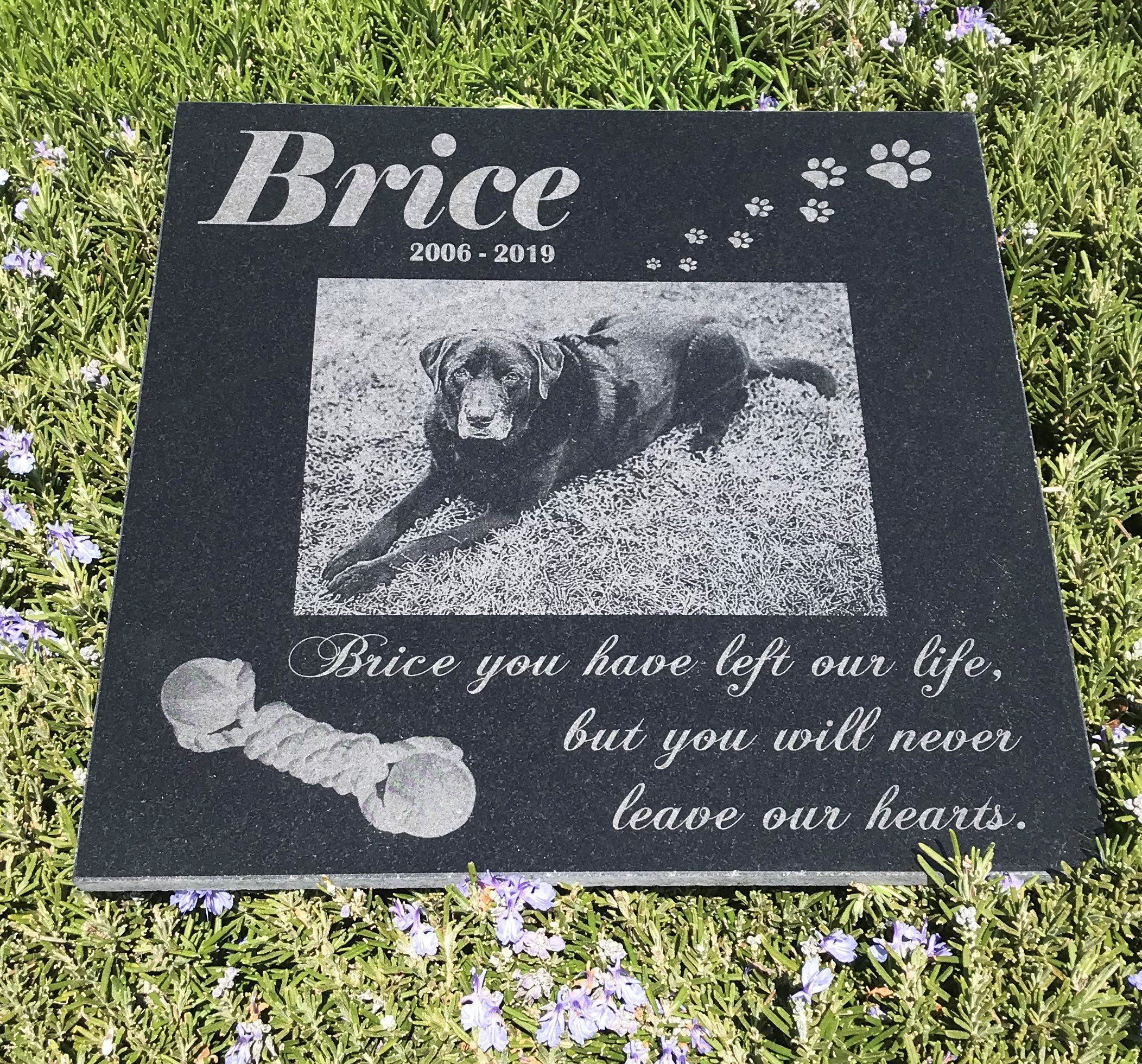 Custom Design 12x12 Engraved Granite Pet Memorial Garden Etsy Granite Pet Memorials Pet Memorial Garden Memorial Garden Stones