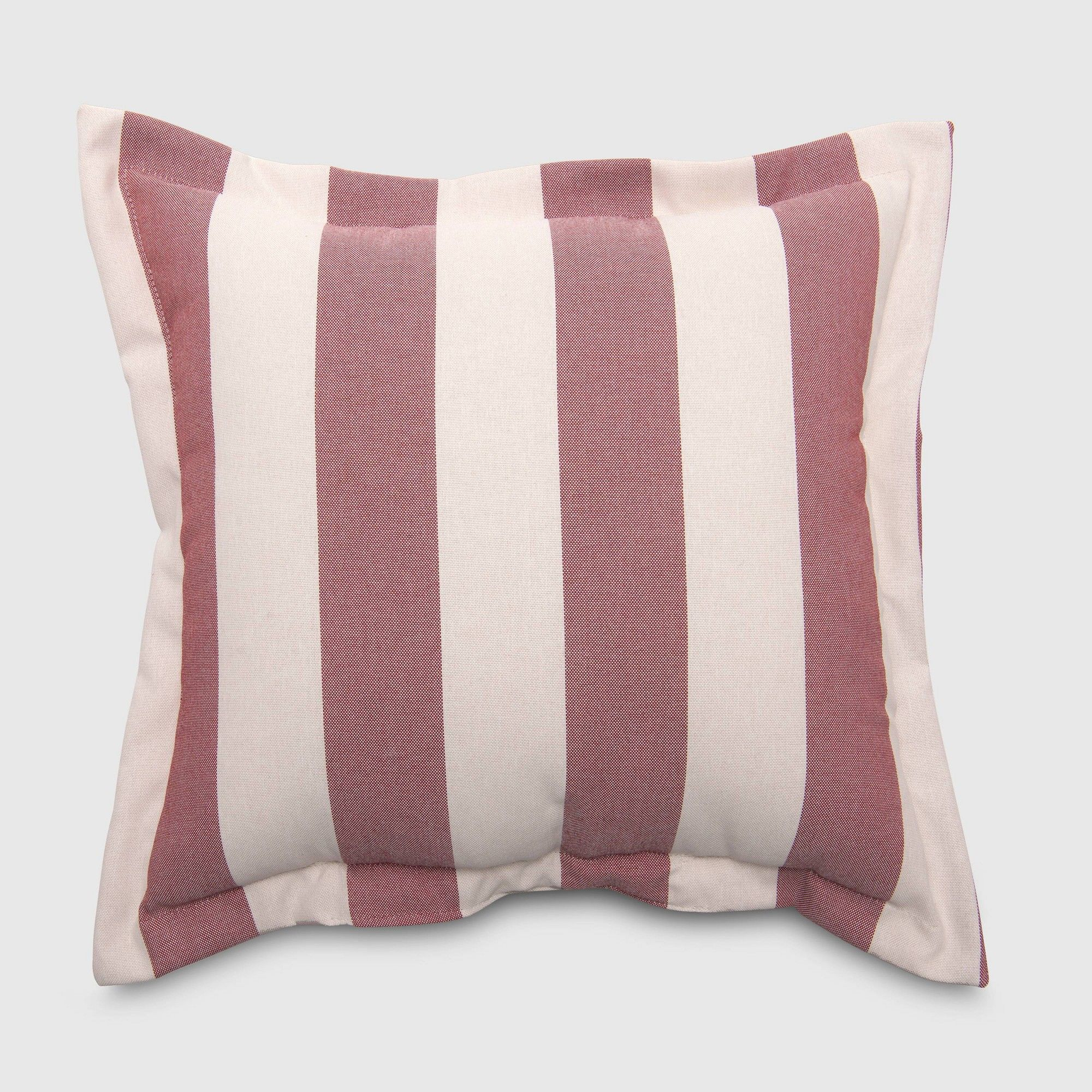 Cabana Stripe Outdoor Deep Seat Pillow Back Cushion Red