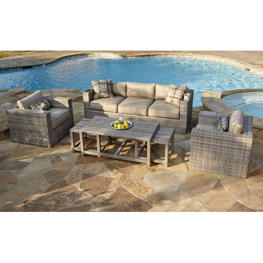 Foremost Lako 6 Piece Deep Seating Group With Cushion · Wicker  FurnitureOutdoor ...