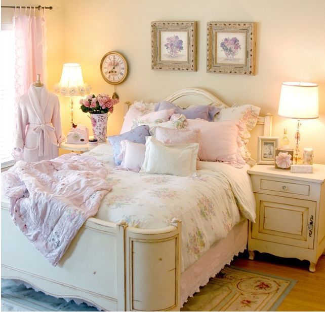 Vintage Bedrooms Shabby Chic Cozy Bedroom Decor Mockup Dorm Rooms Furniture
