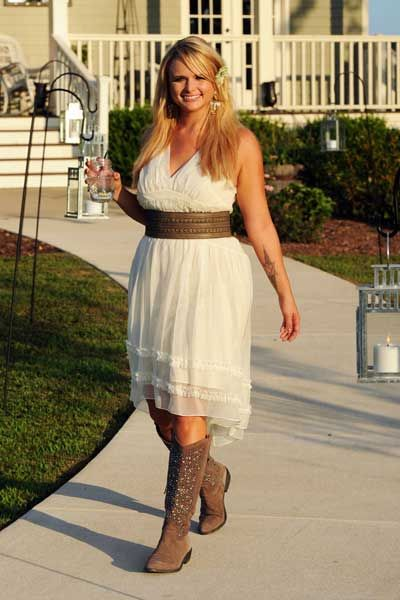 simple bridesmaid dresses to wear with cowboy boots | ... Country ...
