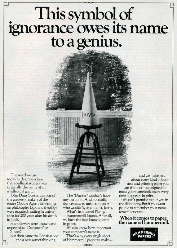 the origin of the Dunce cap | Lightening the Mood | Pinterest