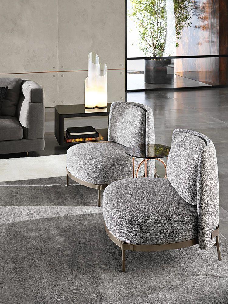 Tape Armchair Without Armrest Nendo Design Minotti70