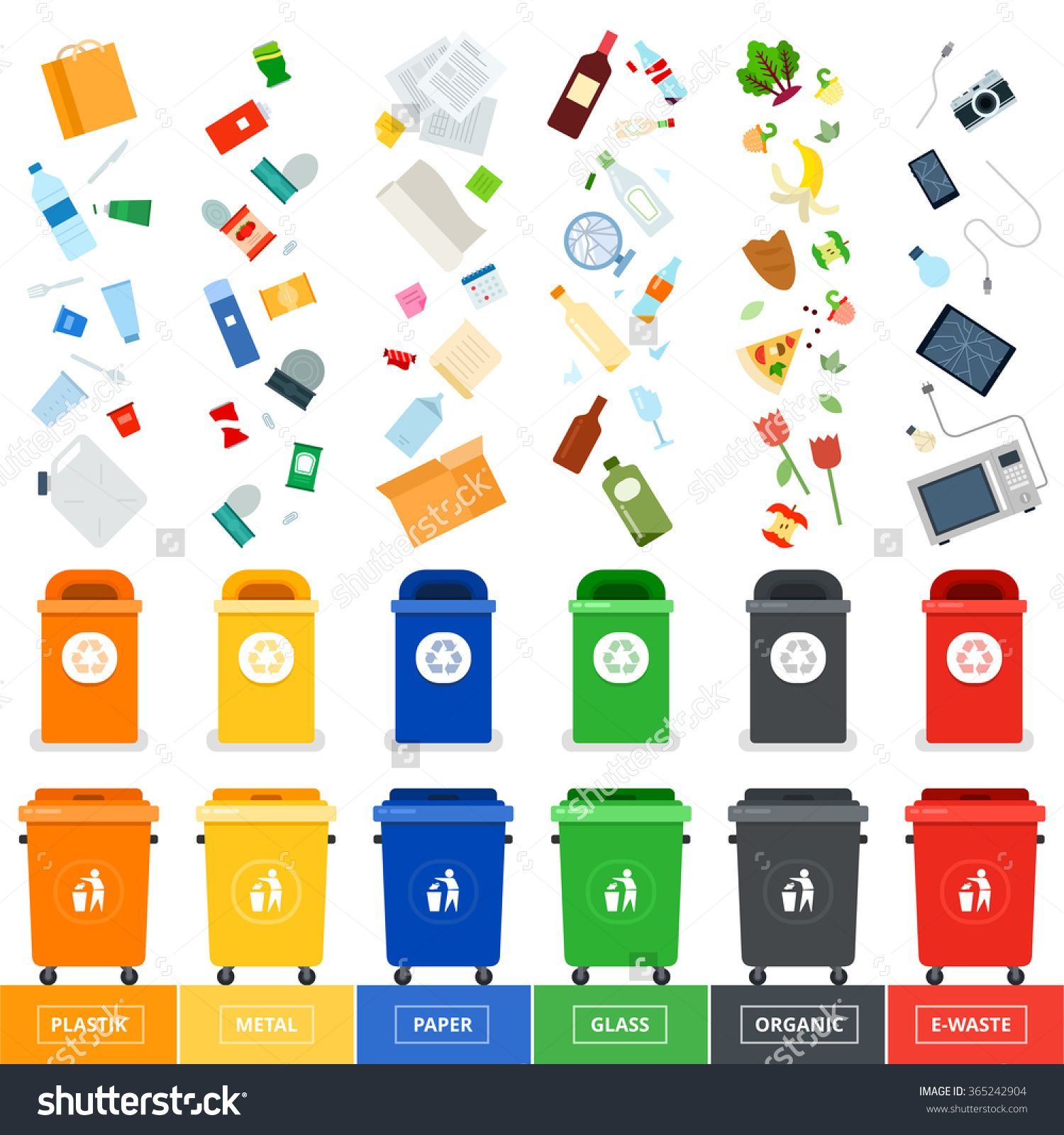 Waste Sorting Clipart