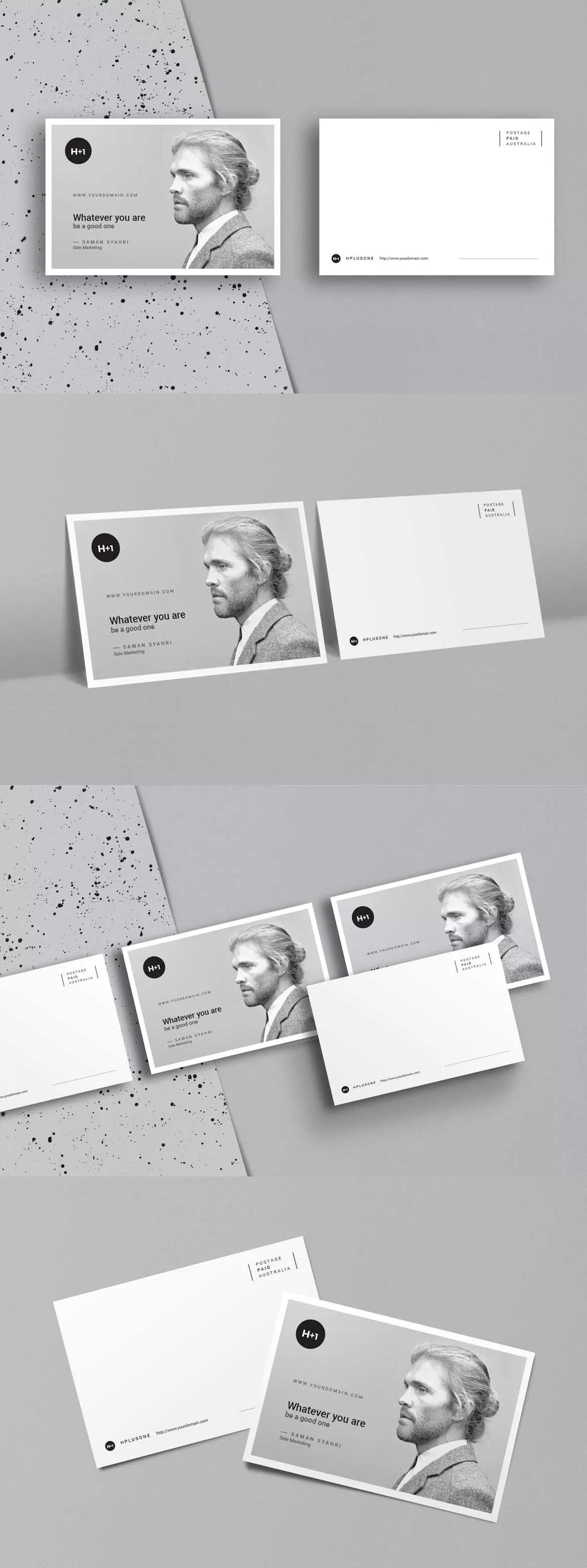 Postcard Template InDesign INDD | Postcard Design Templates | Pinterest
