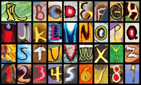 Butterfly Wing Alphabet