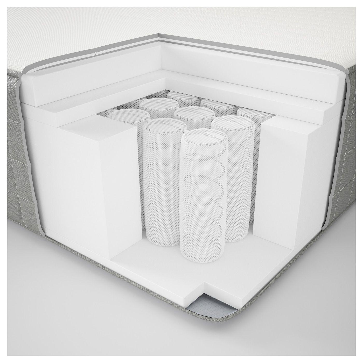 HAUGSVÄR Hybrid mattress firm, dark gray Queen Hybrid
