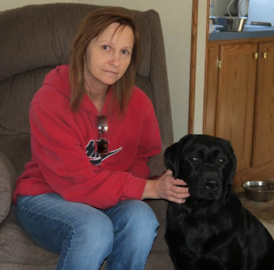 Deanna & Shannon, the Psychiatric Service Dog. These dogs