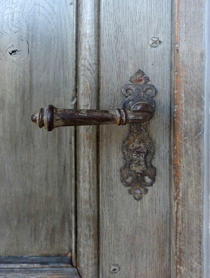 Poignée De Porte Patinée . Ferronnerie . Portes Antiques - Fabricant