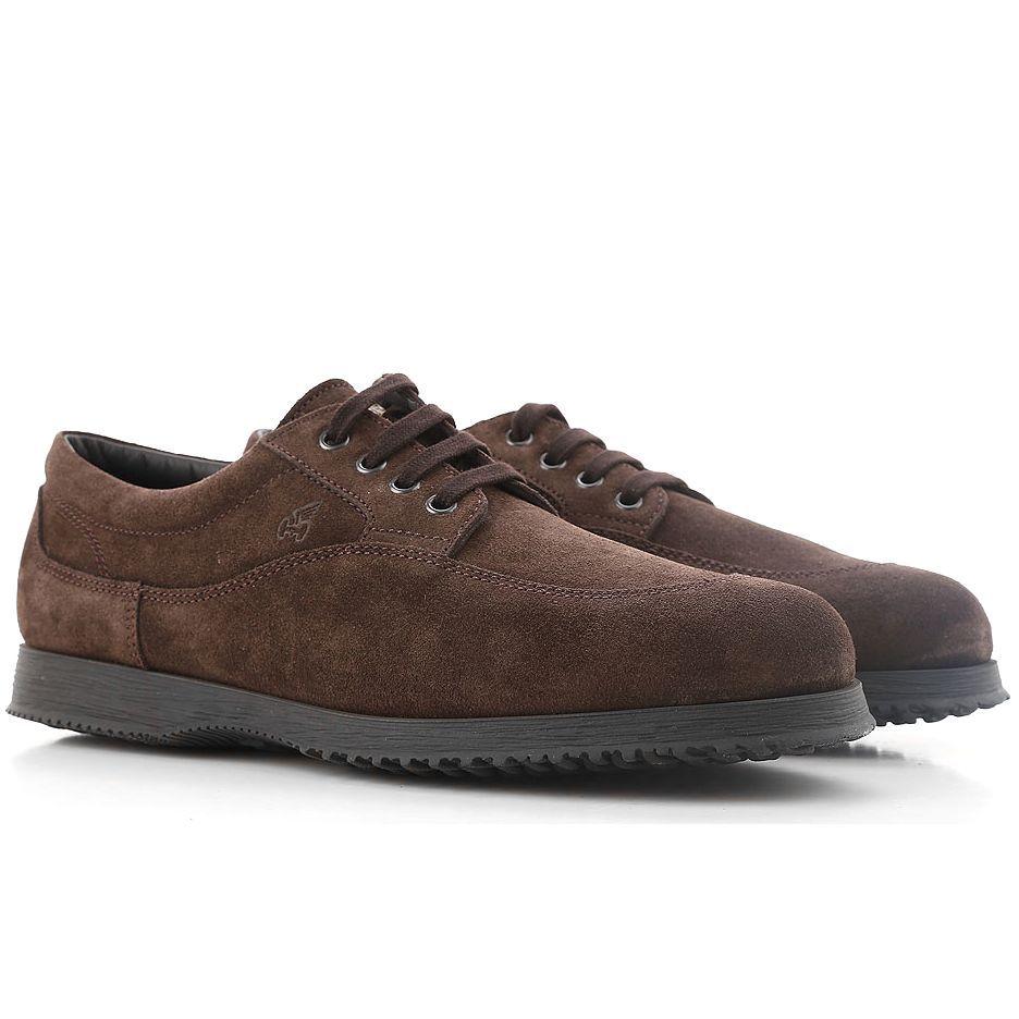Sneakers Hogan Traditional marrone scuro in suede | Sneaker ...