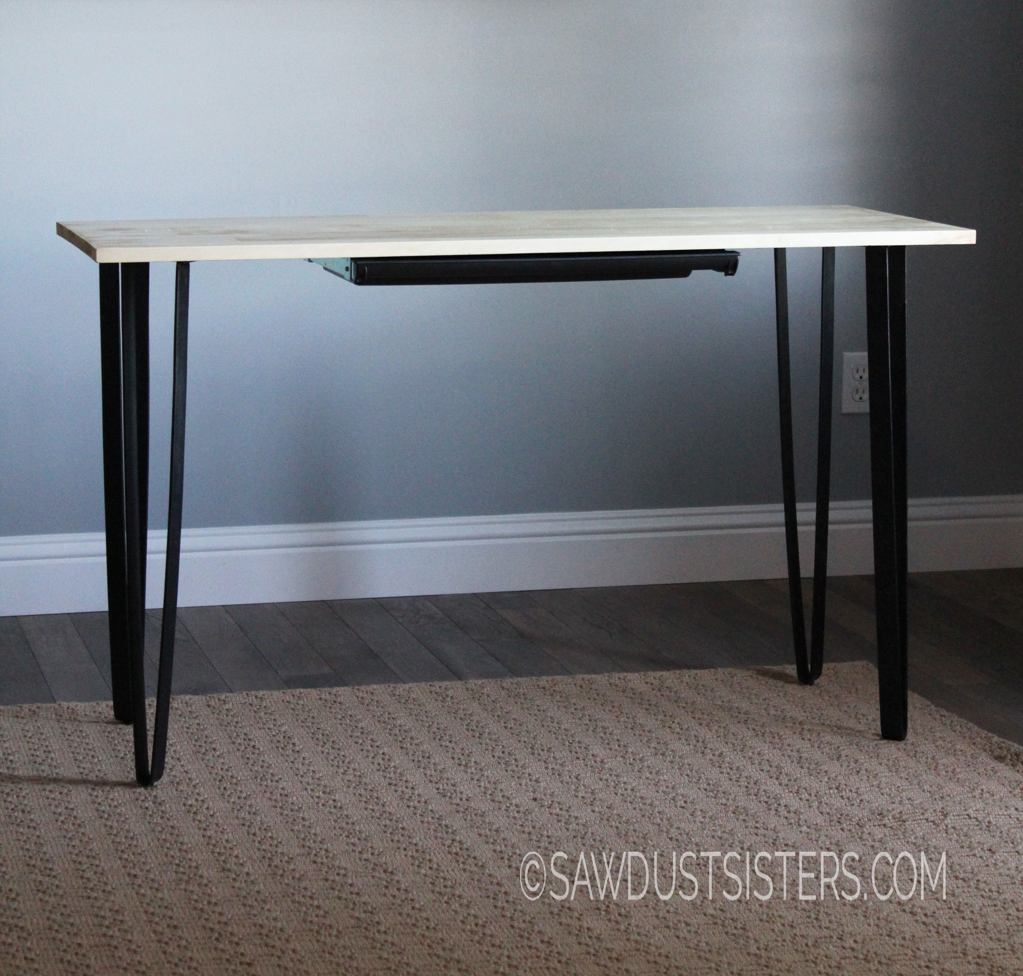 Easy DIY Writing Desk with Pencil Drawer Sawdust Sisters