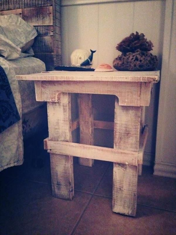 Diy pallet end table nightstands pallet furniture plans work diy pallet end table nightstands pallet furniture plans solutioingenieria Choice Image