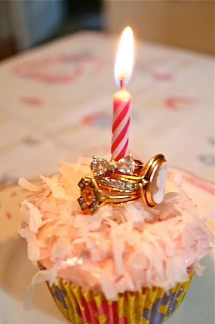 Girlfriend's put their rings on the candle and they get a wish too