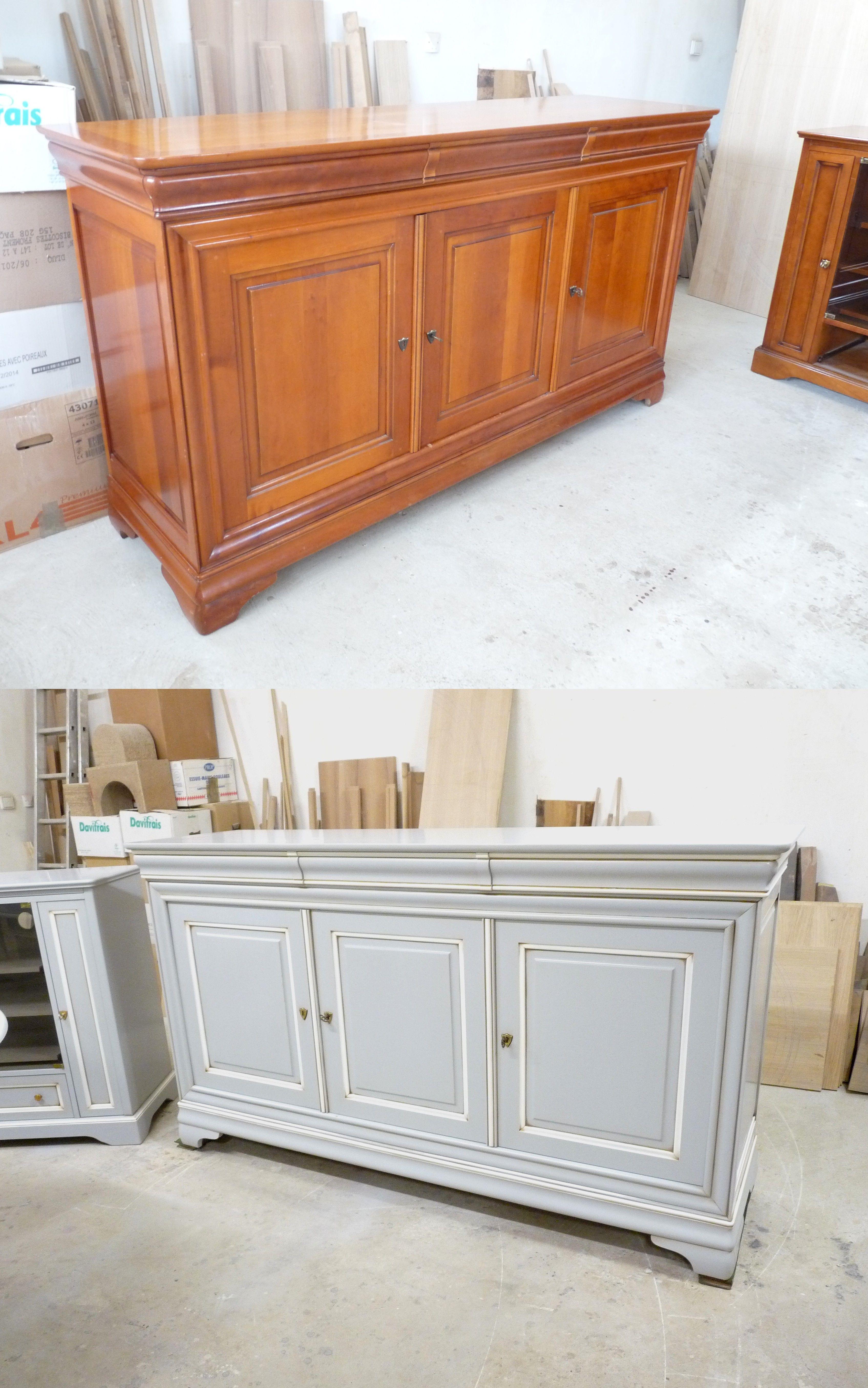Buffet louis philippe relook relooking de mobilier - Repeindre meuble louis philippe ...