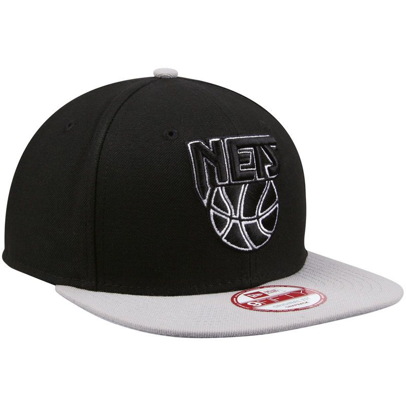 wholesale dealer f5561 83644 Brooklyn Nets New Era Script Flip Original Fit 9FIFTY Snapback Adjustable  Hat - Black