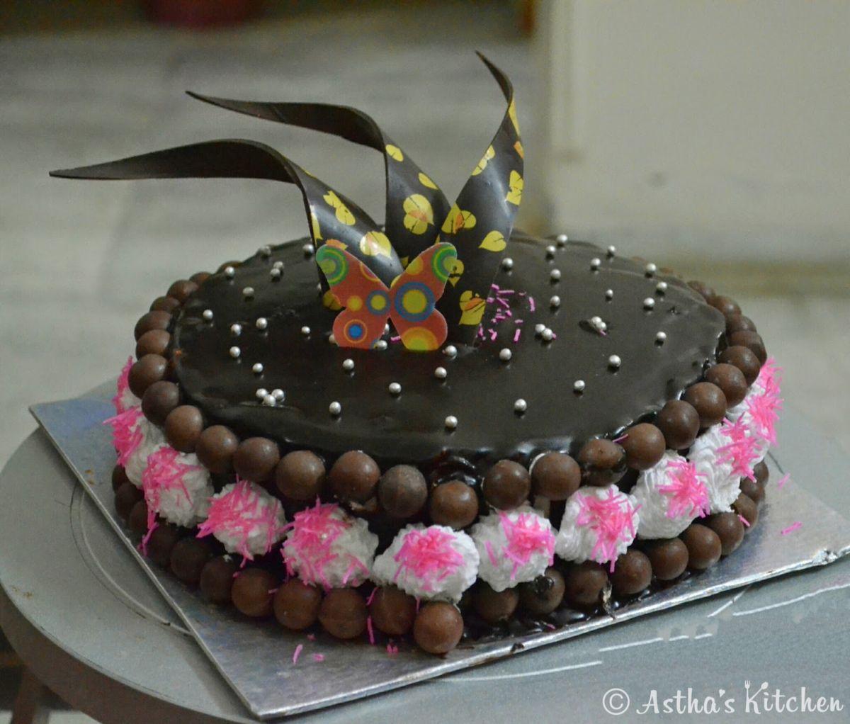 Eggless Chocolate Truffle Cake | Chocolate truffle cake ...