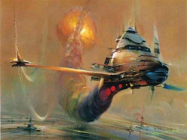 Image Result For 1970s Sci Fi Ships Art Pinterest John Berkey