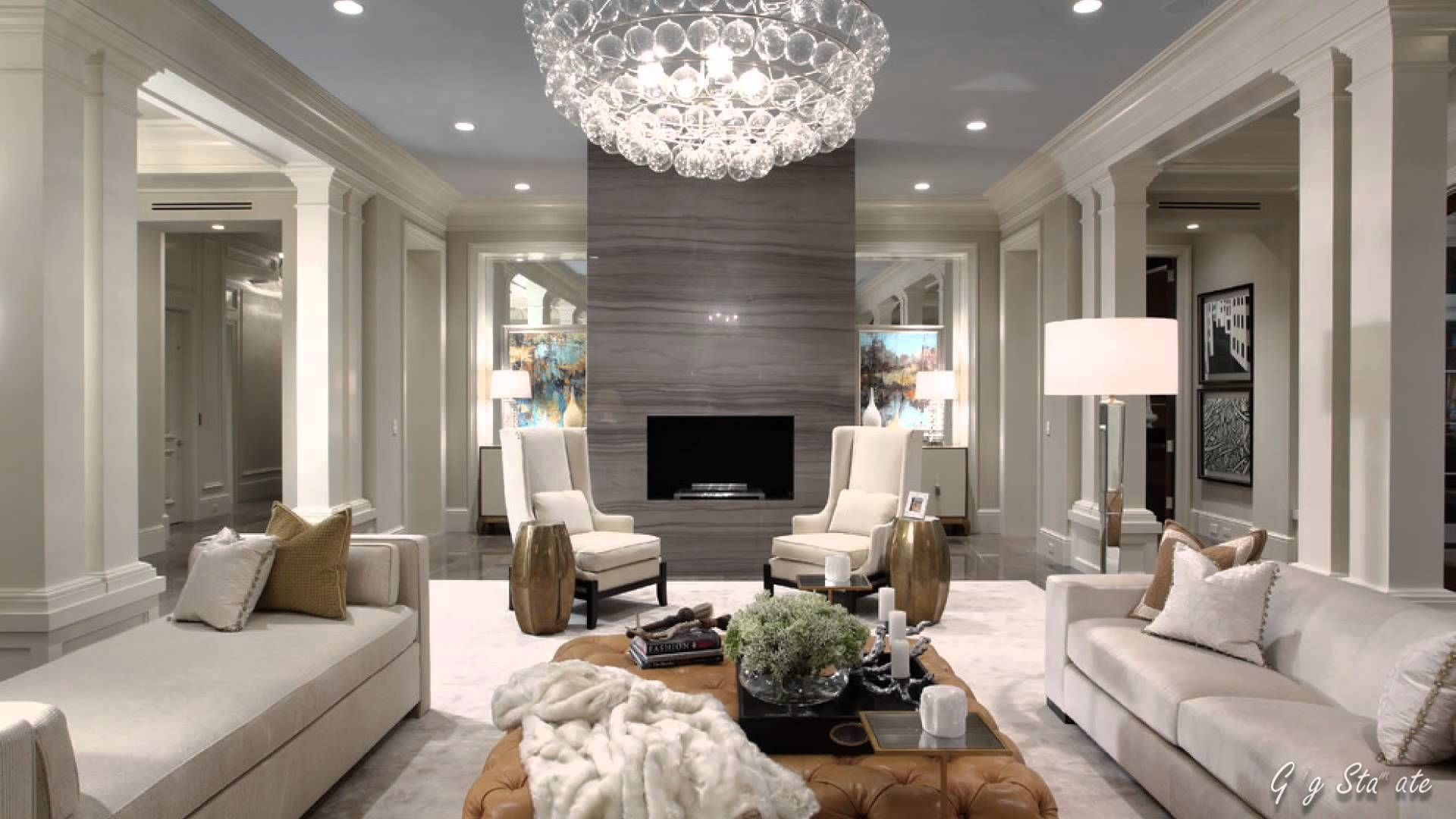 glam living room decorating elegant old hollywood