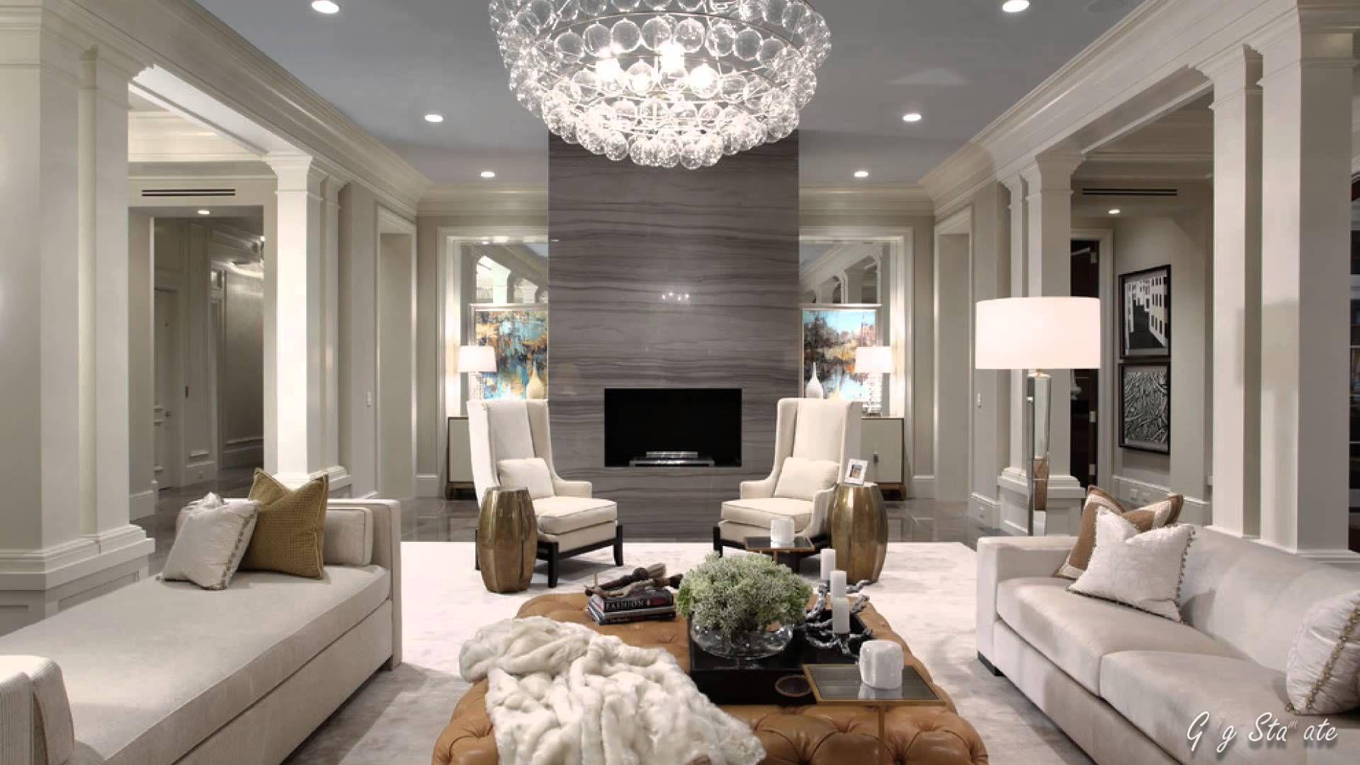 Glam Living Room Decorating Elegant Old Hollywood Glamor Home