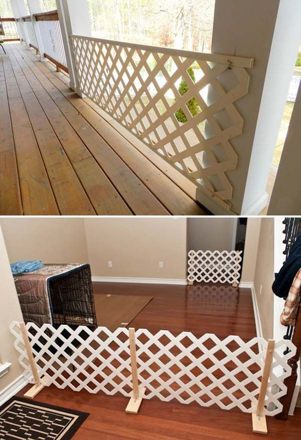 Simple Epic Ways To Use Latice In Your Household Diy Dog Gate