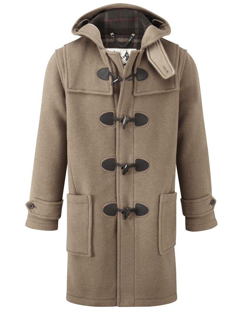 British Duffle Men's Made in England Long Duffle Coat - Camel
