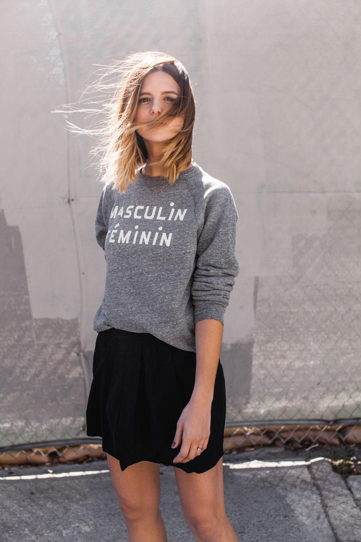 Clare V Masculin Feminin sweatshirt 8de54af45b6de